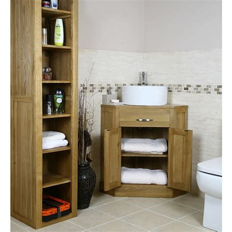 Oak Corner Vanity Unit by Mobel Oak Corner Bathroom Vanity Unit Best Price Guarantee