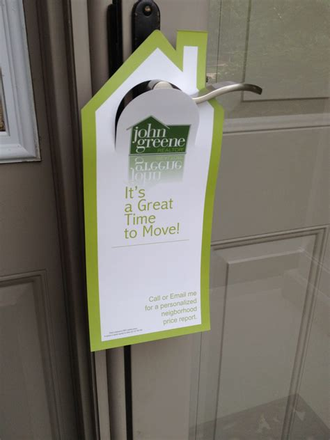 Door Knob Advertising by Pro Tips For Door Hanger Marketing Postcardsrus