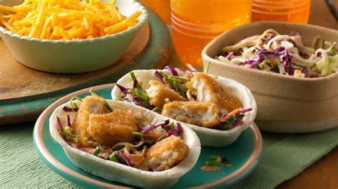 crispy taco boats mini crispy chicken taco boats recipe from pillsbury