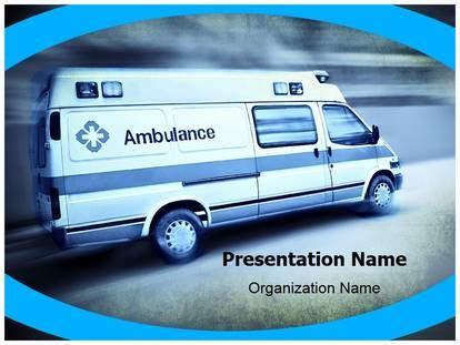 Free Emergency Ambulance Medical Powerpoint Template For Medical Powerpoint Presentations Ambulance Powerpoint Template