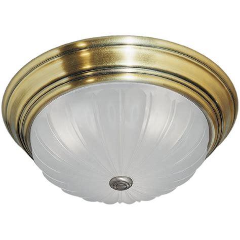 Ceiling Light Fixture Replacement Glass Quoizel Ml184a Antique Brass Melon 3 Light 16 Quot Wide Flush Mount Ceiling Fixture With Clear Glass