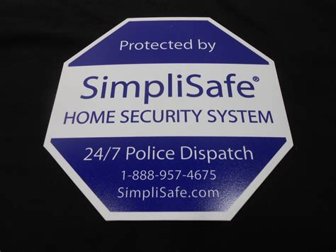 simplisafe home security alarm system yard sign 9 simply