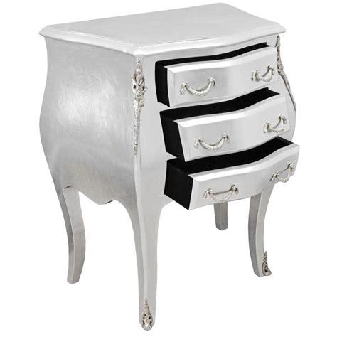 table de nuit baroque table de nuit chevet commode baroque en bois argent 233