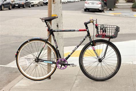 Fixed Gear Front Rack by Black Fixed Gear Lockup Rack Bike Pedal Room