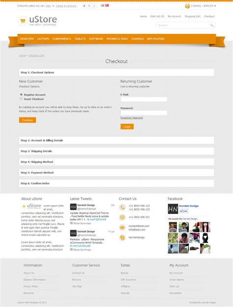 ustore responsive ecommerce html5 template by