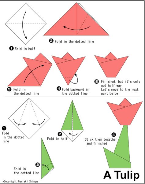 Simple Origami - diy how to make an origami tulip guest pinner cool