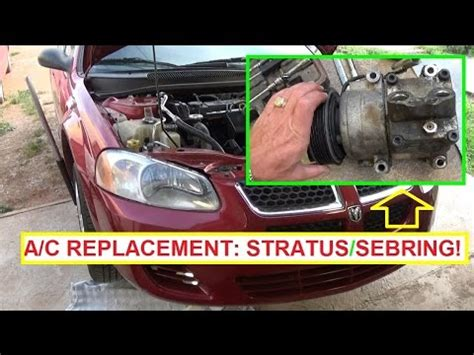 motor repair manual 1996 dodge stratus lane departure warning how to remove and replace ac a c compressor dodge stratus and chrysler sebring youtube