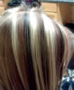 chunky hair color chunky placed 3 color highlight lowlight hair