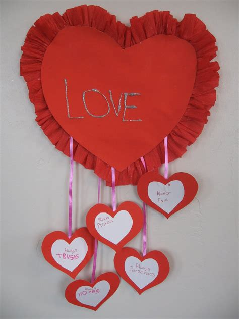 Valentines Papercraft - almost unschoolers i corinthians 13 craft