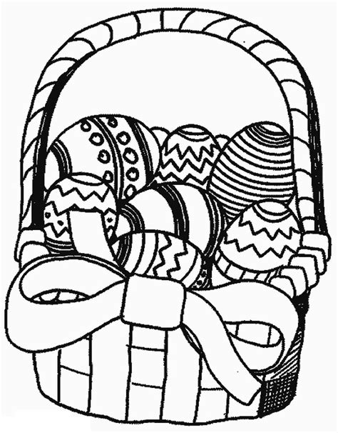 coloring pages of easter baskets easter basket of eggs coloring pages coloring