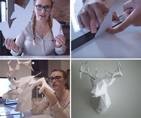 How To Make A Deer Out Of Paper - how to make your own 3d paper deer contemporist