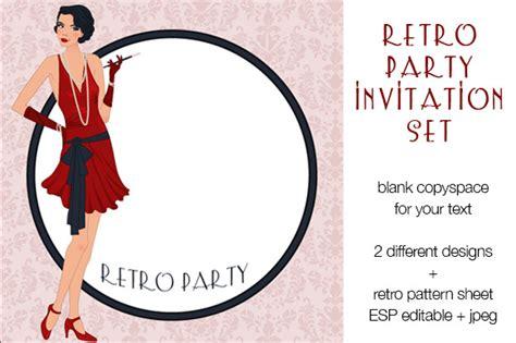 Retro Birthday Card Template by Retro Invitation Set Invitation Templates On