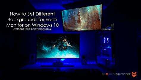 different wallpaper for each desktop windows 10 how to set different wallpapers backgrounds for each