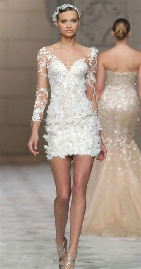 vestido corto de novia 35 vestidos cortos de novia elegantes modernos y chic