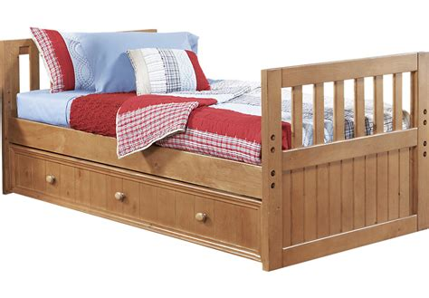 w bed creekside taffy 3 pc twin bed w trundle twin beds light wood