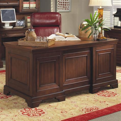 Home Office Furniture Richmond Va Aspenhome Richmond 66 Inch Pedestal Executive Desk Wayside Furniture Pedestal Desk