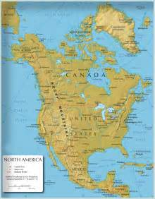 Map Of Norh America by North America Map North America Atlas North America
