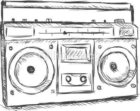 sketchbook radio vector sketch illustration recorder vector
