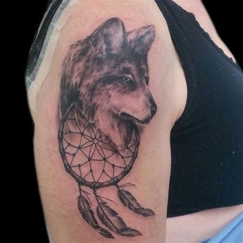 tattoo dreamcatcher wolf 37 graceful dream catcher shoulder tattoos