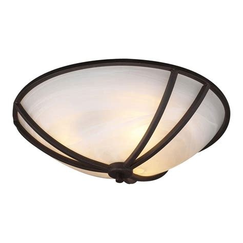 Bronze Flush Mount Ceiling Light Plc Lighting 3 Light Ceiling Rubbed Bronze Flush Mount With Marbleized Glass Cli Hd14864orb