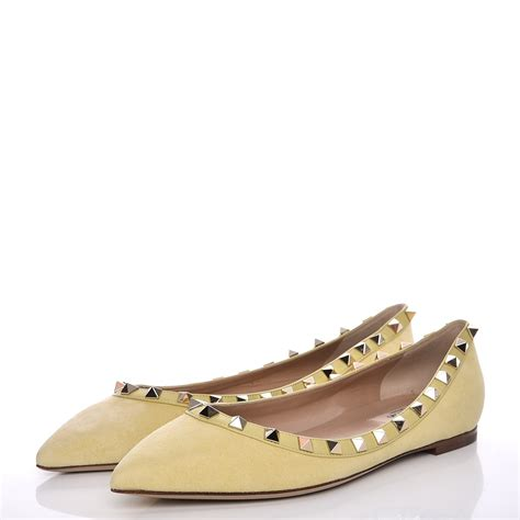 Kaos Valentino Shoes Bw valentino suede rockstud flats 37 light green 214616