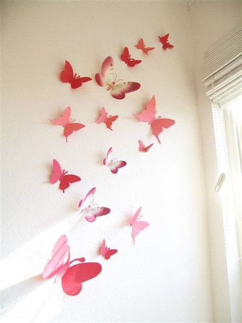 butterfly wall ideas  pinterest butterfly