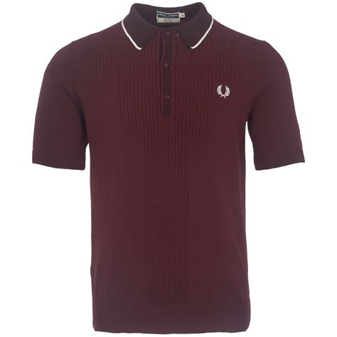 design a polo shirt uk fred perry reissues pointelle design knitted polo shirt