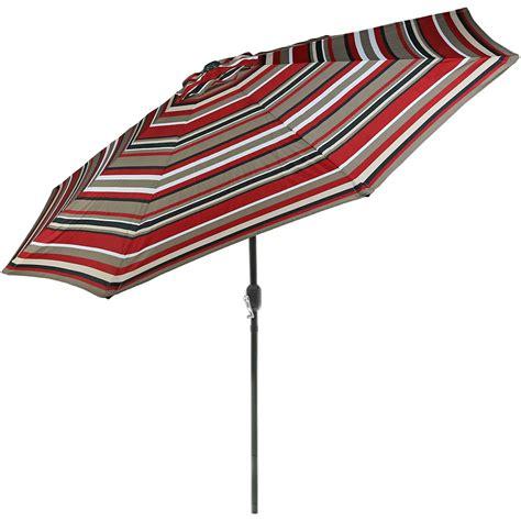 Sunnydaze 9 Foot Patio Umbrella with Push Button Tilt