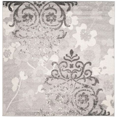 silver area rugs safavieh adirondack silver ivory 8 ft x 8 ft square area