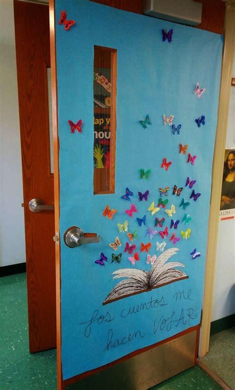 butterflies  spring time classroom door art
