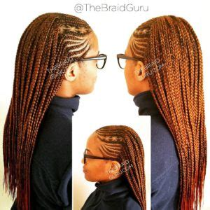 cornrows with individual braids in the back cornrows in the front box braids in the back find your