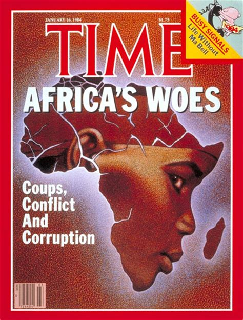 Covers South Africa time magazine u s edition january 16 1984 vol 123 no 3