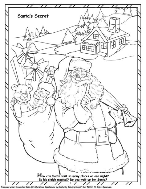rockettes coloring page coloring books official radio city christmas spectacular