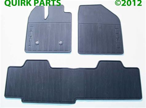 2013 Ford Edge All Weather Floor Mats by 2011 2012 Ford Edge Black Rubber All Weather Floor Mats 3 Set Oe Brand New Ebay