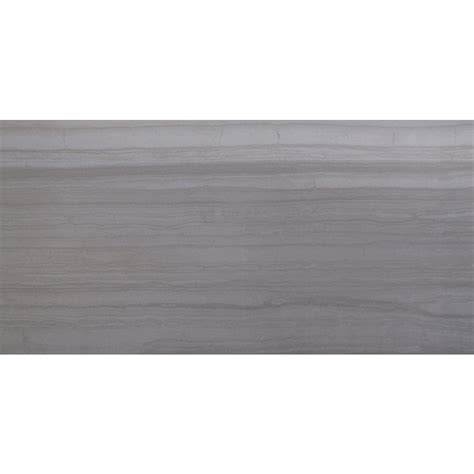 ms international sophie gray 12 in x 24 in glazed porcelain floor and wall tile 12 sq ft