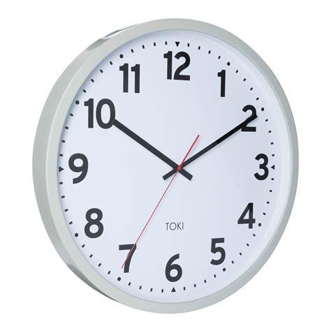 buy clock buy toki kennett cool grey silent sweep wall clock 50cm