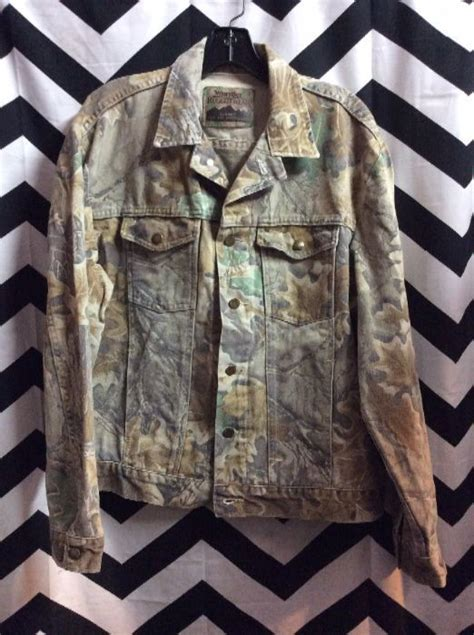 rugged outdoor jackets wrangler denim jacket camo print rugged outdoor wear