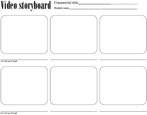 the gallery for gt storyboard template 4 boxes