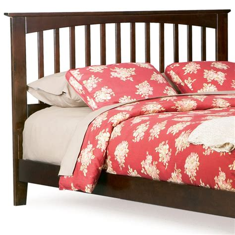 brooklyn mission style headboard in antique walnut dcg