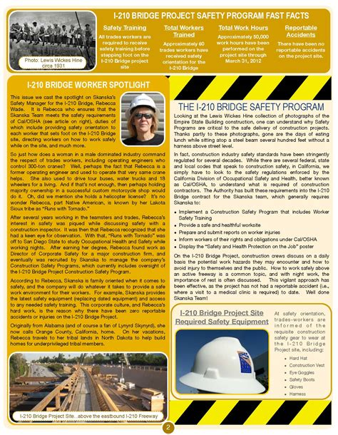 Construction Newsletter I 210 Gold Line Bridge Newsletter 2012 Foothill Gold Line