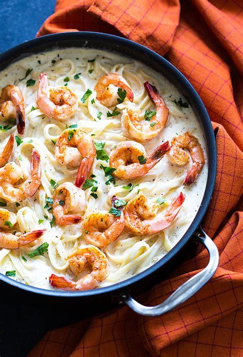 creamy cheesy shrimp and pasta recipes cajun shrimp alfredo the blond cook