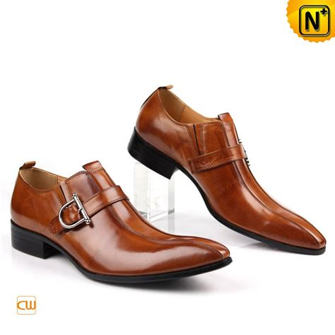 mens italian dress shoes brown monk leather dress shoes for cw763072