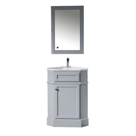 corner bathroom sink vanity cabinet stufurhome hton 27 in w x 18 in d corner vanity in