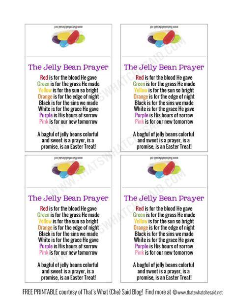 printable jelly bean name tags jelly bean prayer free printable that s what che said
