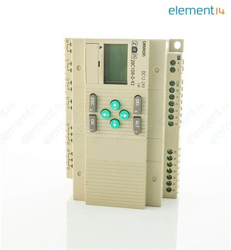 Omron Zen 20c1dr D V2 1 zen 20c1dr d v2 omron industrial automation plc zen series standard 12 inputs 8 relay