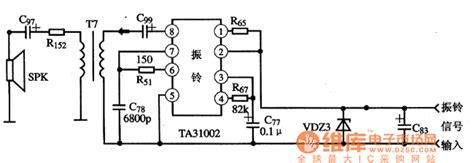 simple diagram of integrated circuit ta31002 ringing integrated circuit diagram basic circuit circuit diagram seekic