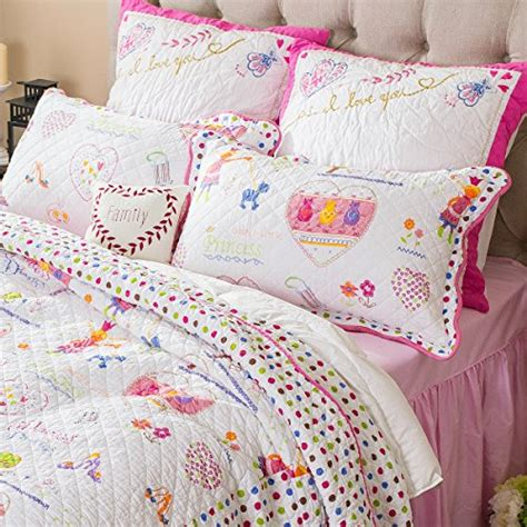 girls quilt bedding shopkins colors kids comforter set white and pink girls