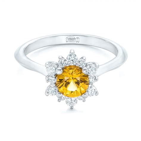 and yellow sapphire engagement ring 1403