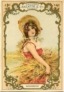 autumn harvest woman image the graphics fairy