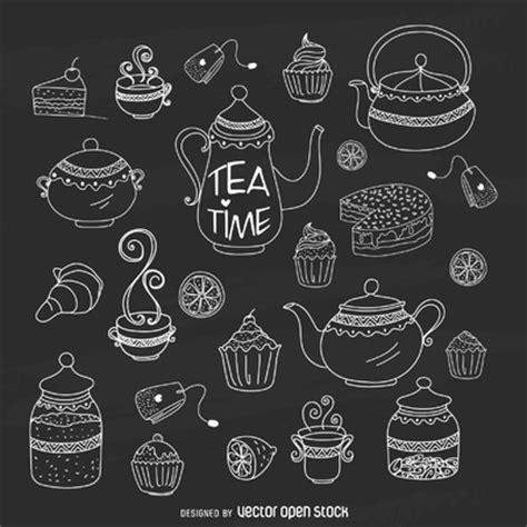 Bundel Teko Yoshikawa Cafe Time chalk tea time kit free vector